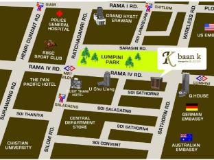 Baan K Managed by Bliston Hotel Bangkok - Map
