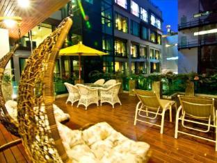 Rashmi's Plaza Hotel Vientiane Vientiane - Hotellet från insidan