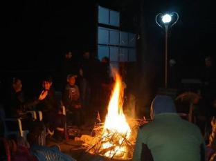 Baghmara Wildlife Resort Chitwan National Park - enjoying fire