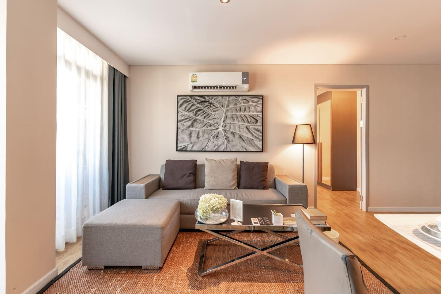 Central comfortable two bedrooms resort apartment