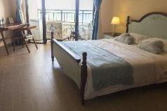 Mediterranean sea view room with big bed, Haikou