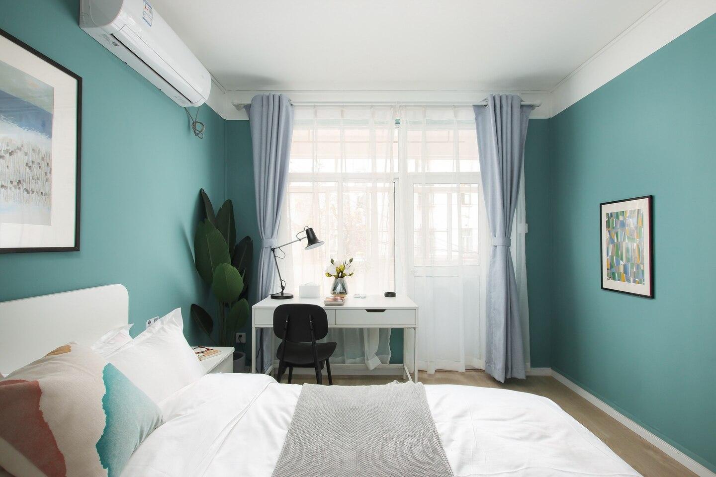 Blue Red  Xinjiekou Warm Art Family Room