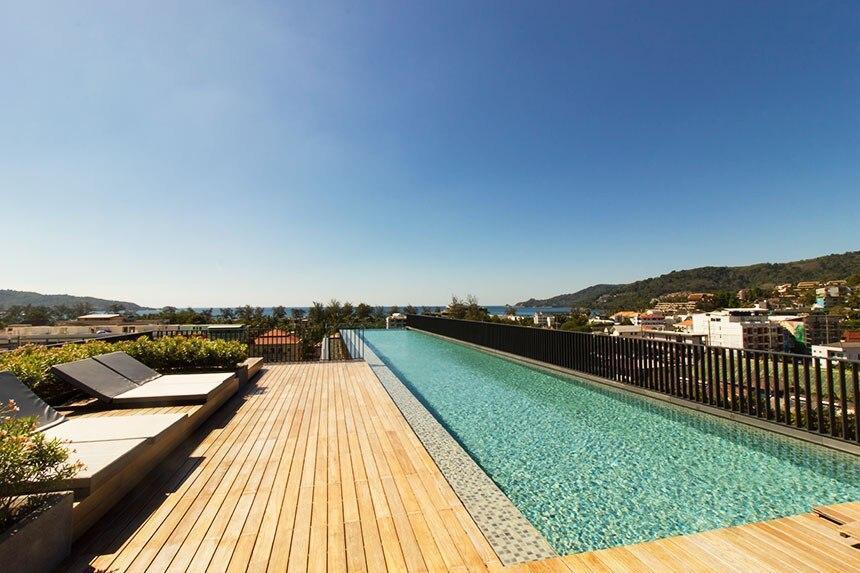 Patong Mountain View Studio With Sea View Pool
