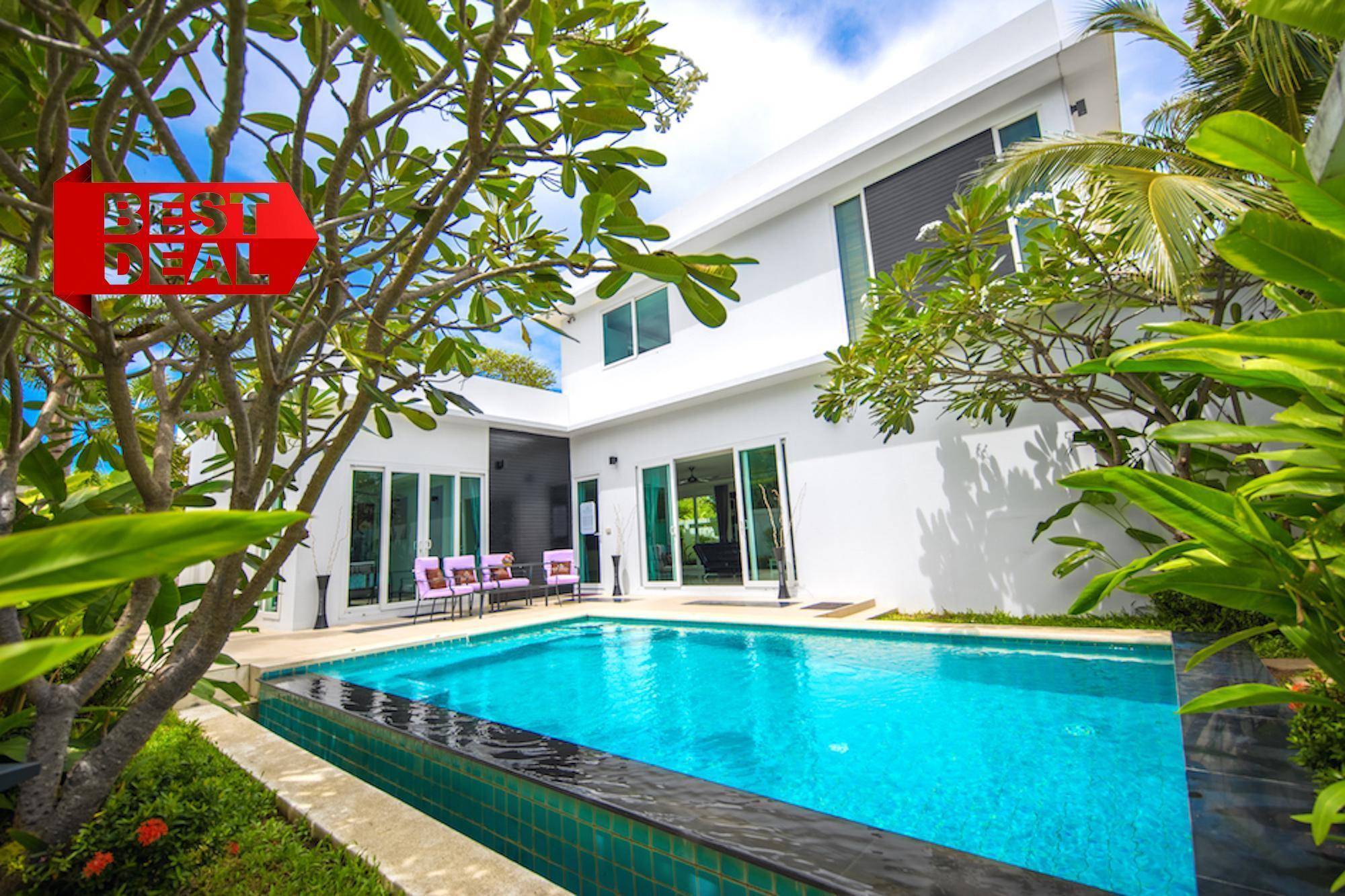 HOLLYWOOD Pool Villa 3 bedroom Palm Oasis Village วิลลา 3 ห้องนอน 2 ห้องน้ำส่วนตัว ขนาด 260 ตร.ม. – หาดจอมเทียน