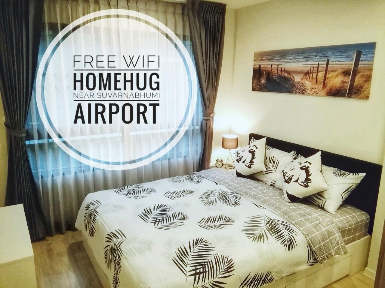 Homehug near Suvarnabhumi Airport 10 mins by Shine อพาร์ตเมนต์ 1 ห้องนอน 1 ห้องน้ำส่วนตัว ขนาด 28 ตร.ม. – สนามบินสุวรรณภูมิ