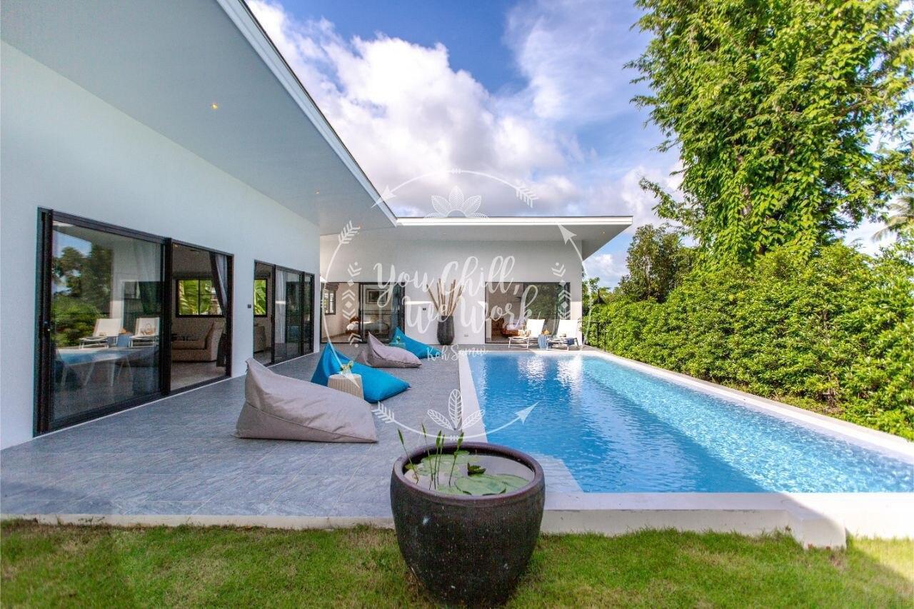 Lotus Villa 3 bedrooms 500m from the Beach วิลลา 3 ห้องนอน 2 ห้องน้ำส่วนตัว ขนาด 240 ตร.ม. – เฉวงน้อย