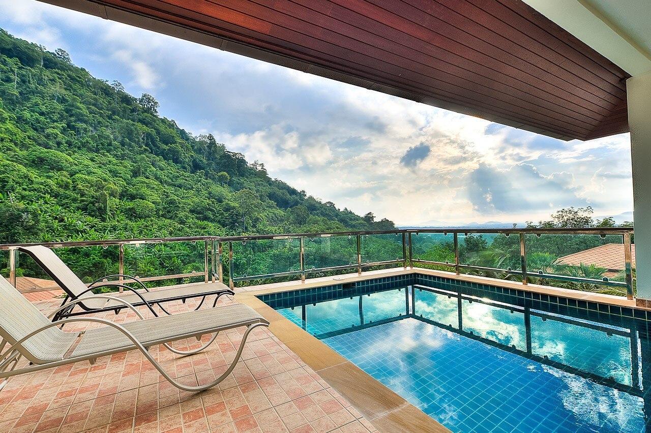 5 BDR Mountain View Pool Villa near Big Buddha วิลลา 5 ห้องนอน 5 ห้องน้ำส่วนตัว ขนาด 800 ตร.ม. – ฉลอง