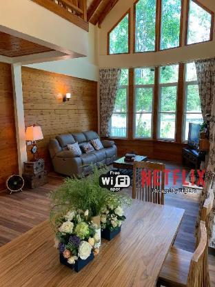 [カオヤイ国立公園]ヴィラ(234m2)| 3ベッドルーム/3バスルーム 3BR New Log Home@Khao Yai National Park by TripleB
