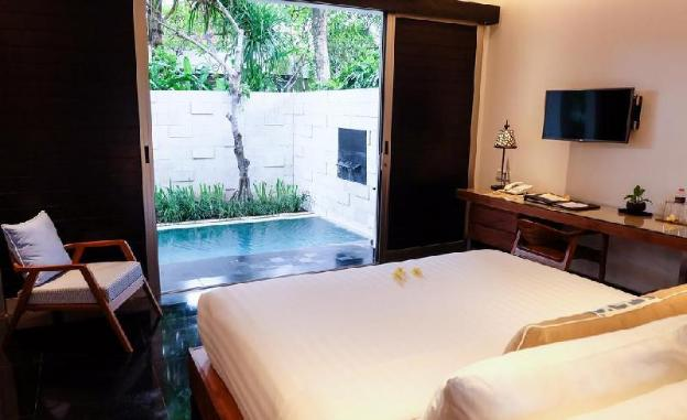 Family 1 BR villa with private pool - B'fast