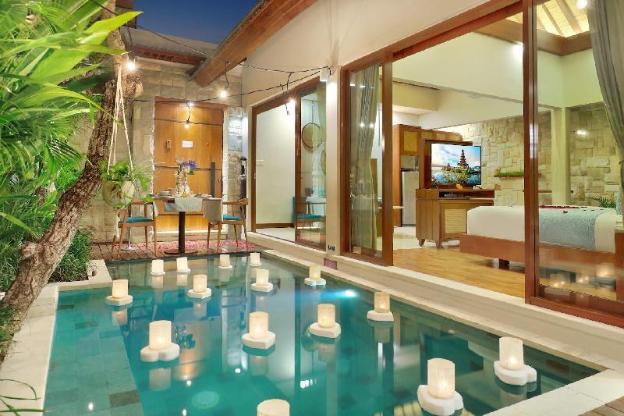 One BR Villa Private Pool&Hot tub-Breakfast|AkV