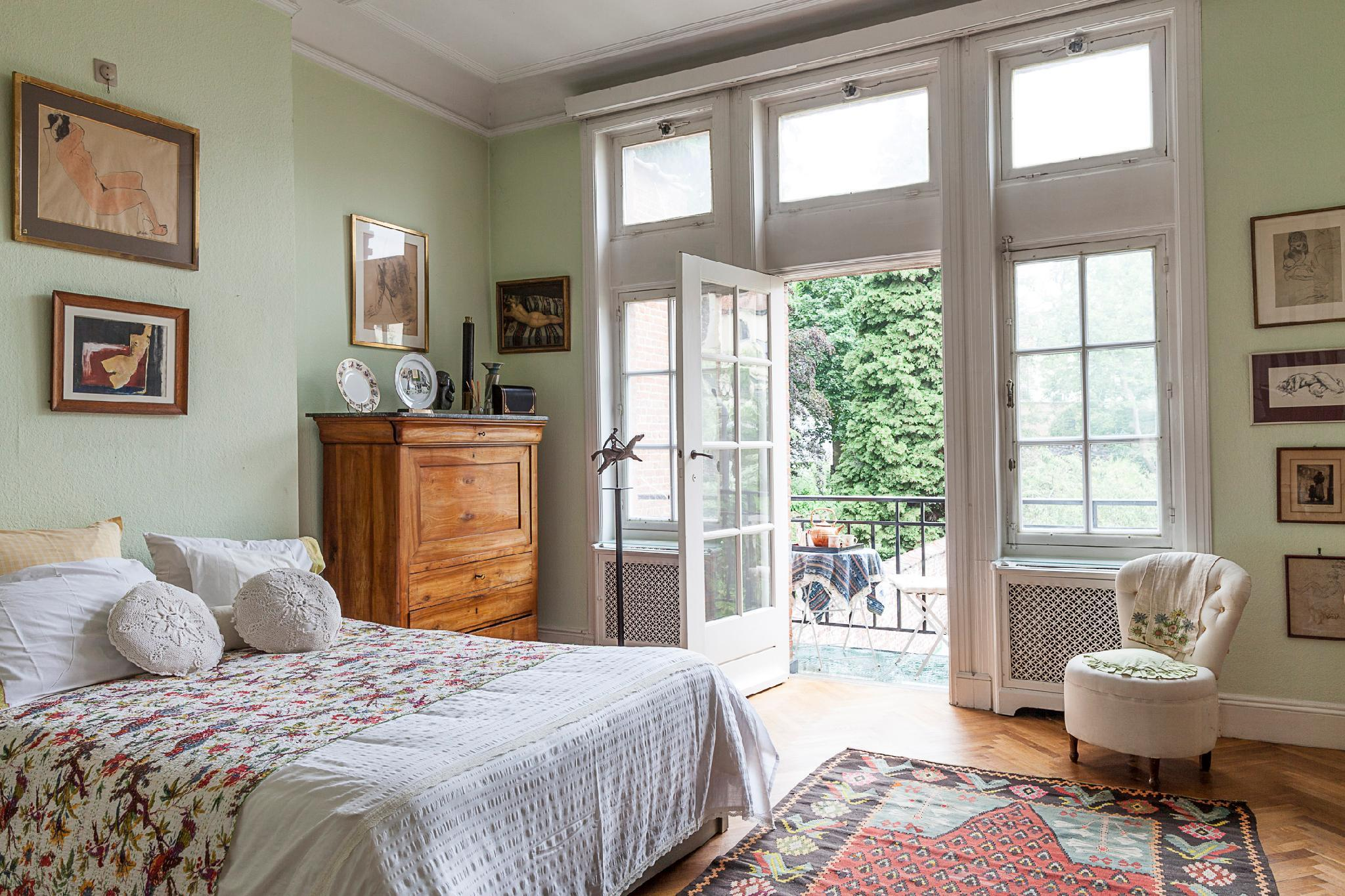 Double Room With A Balcony and Garden View
