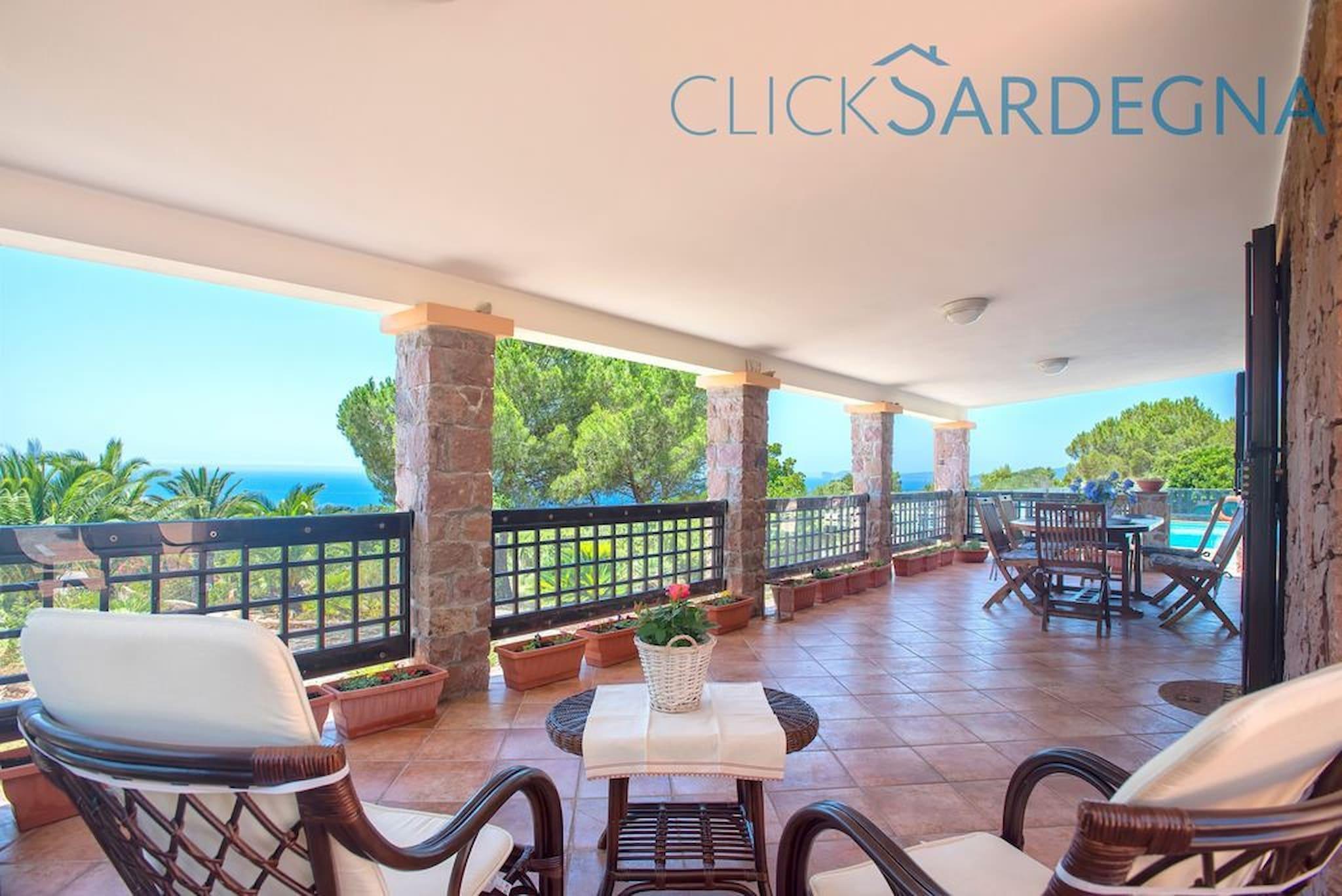 Alghero, Villa Barranch Con Piscina Vista Mare