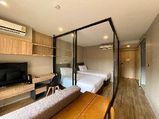 [サトーン]アパートメント(32m2)| 1ベッドルーム/1バスルーム blossom condo-Twin Bed room Surasak BTS @ Sathorn
