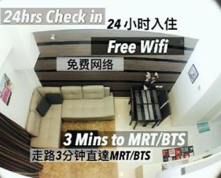 [プラトゥーナム]アパートメント(110m2)| 2ベッドルーム/3バスルーム Two bdr 3bath 110sqm Duplex 3 mn to ASOK