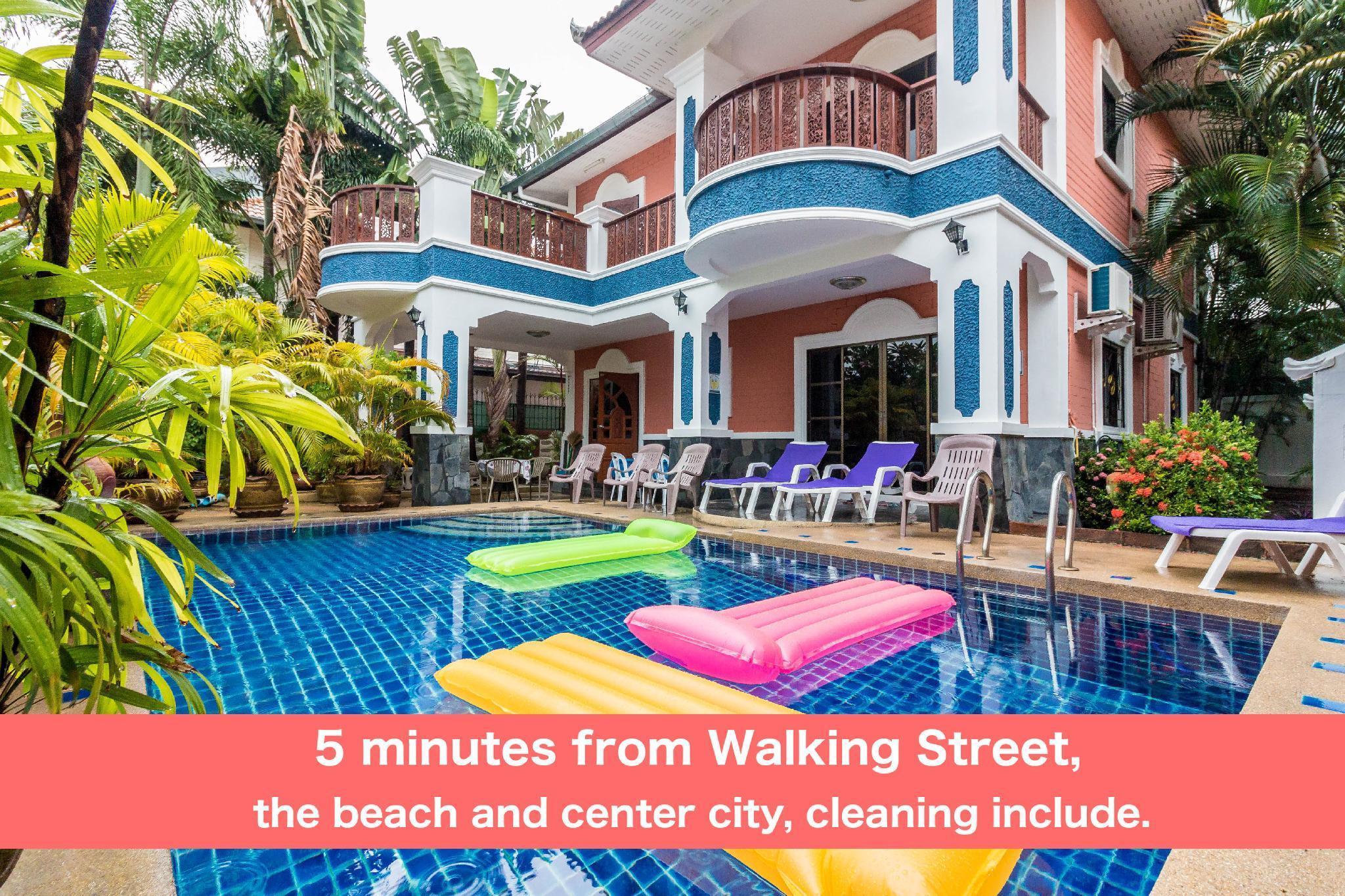Pool villa 6 bedrooms 5 min Walking Street & beach Pool villa 6 bedrooms 5 min Walking Street & beach