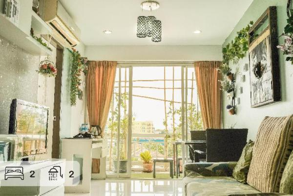70 sqm FOREST 2 BR APT in city-center near metro Bangkok