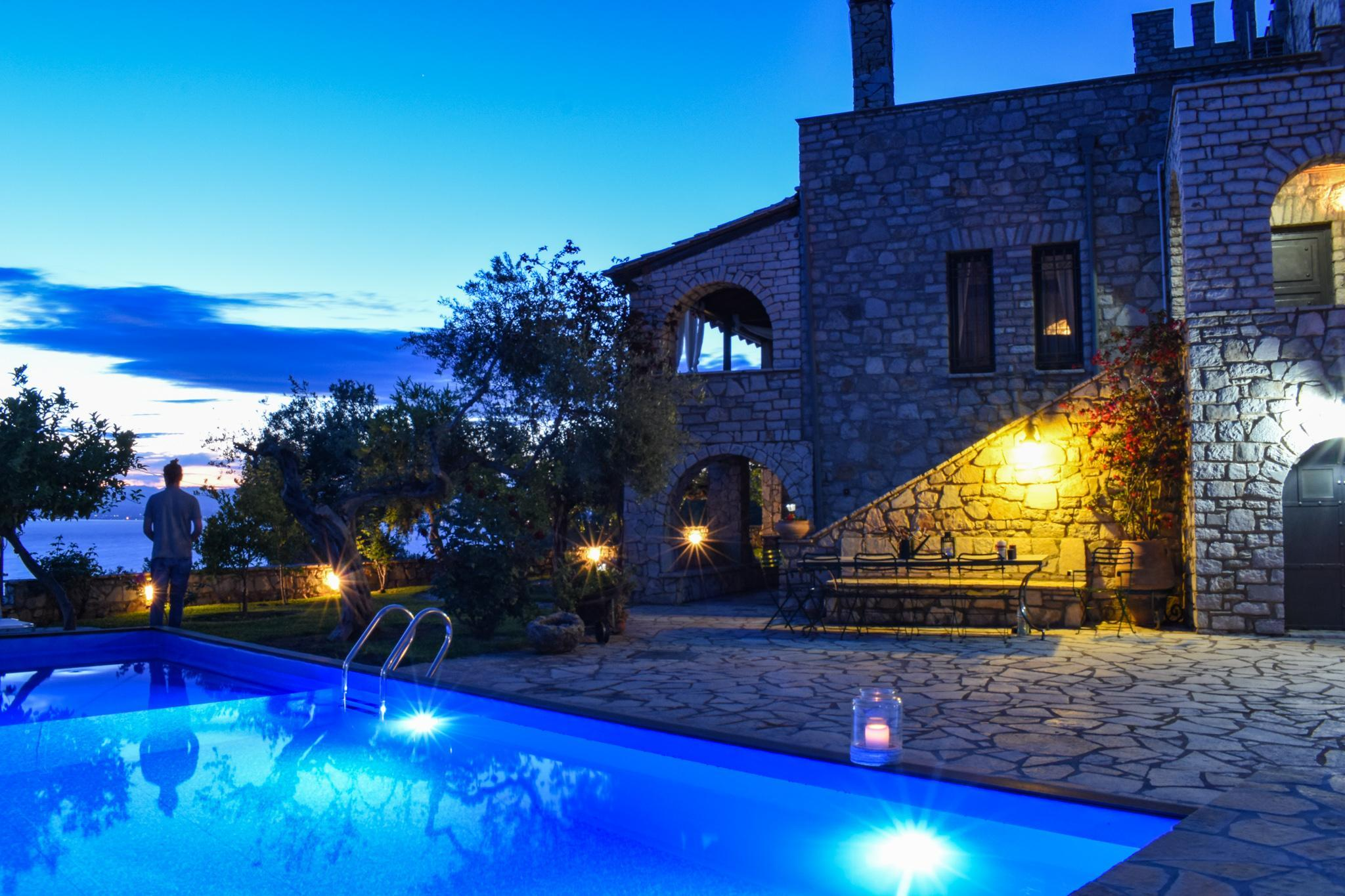 Castle With Pool  Amazing Seaview 1km To The Beach