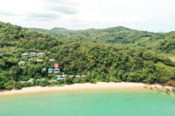 Panoramic View over the Beach in Tropical Paradise Phuket