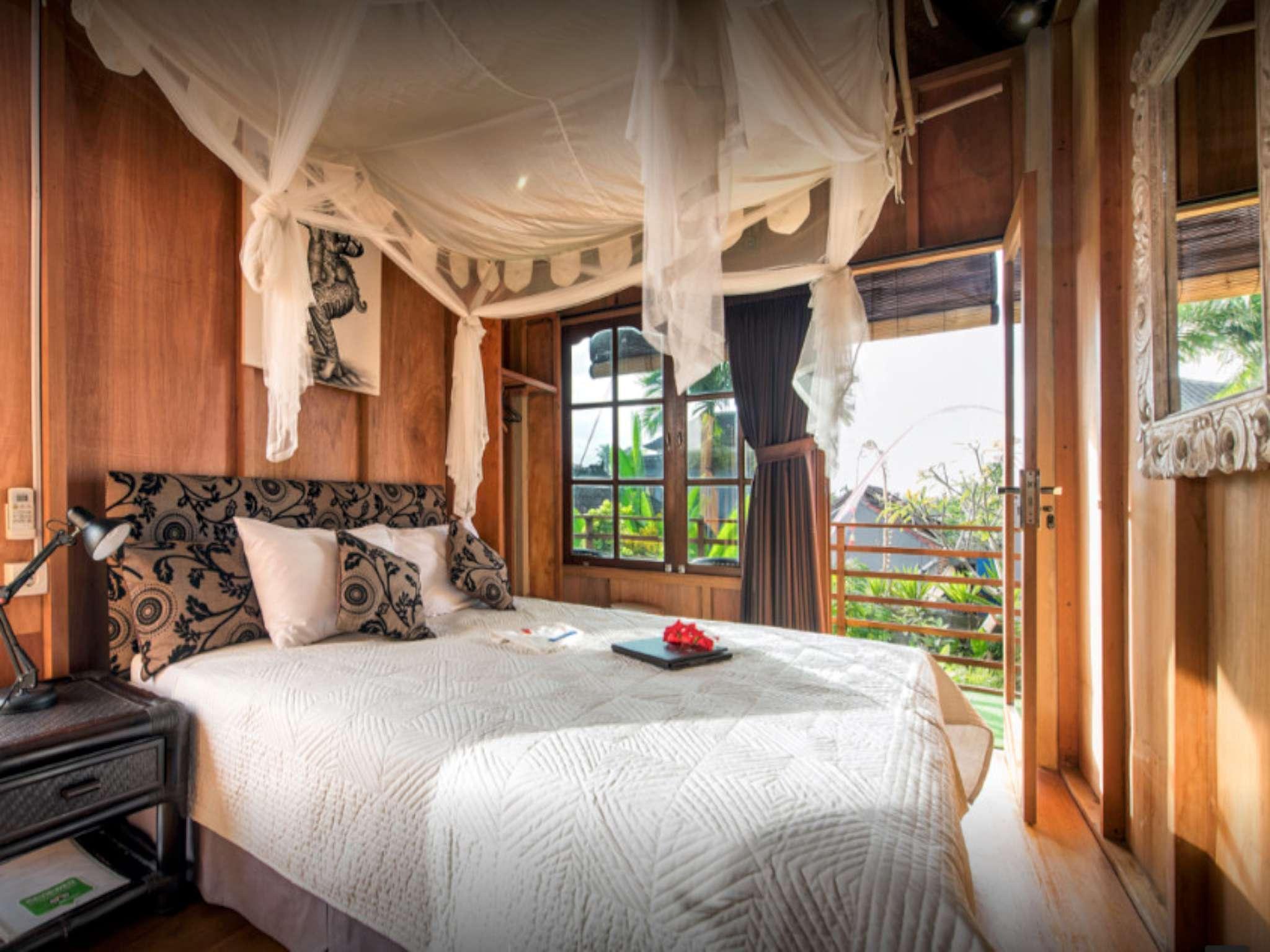 Angel House Ubud Lumbung Room. Above Bale