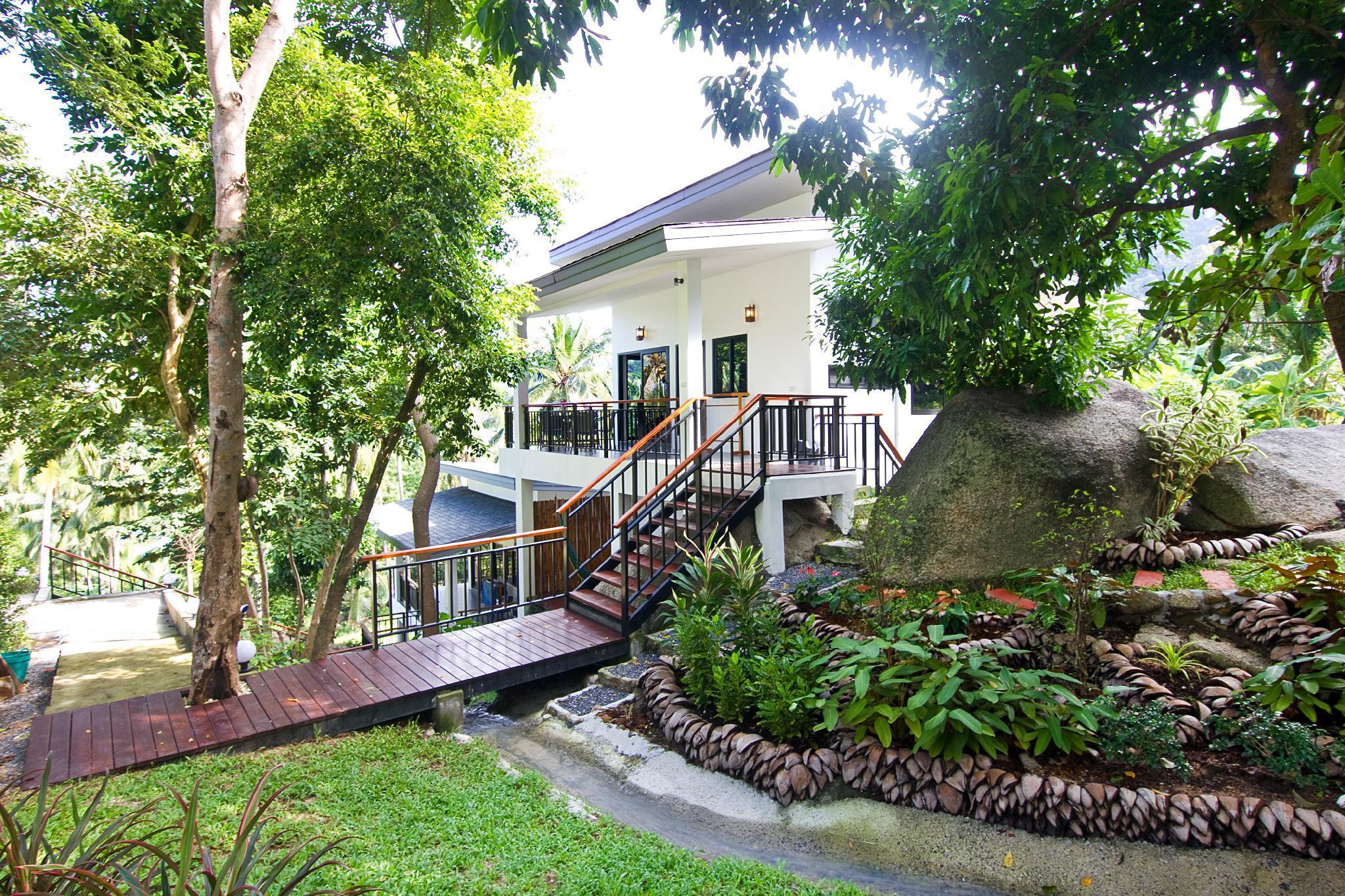 Waterfall, Sea/Jungle View Villa วิลลา 2 ห้องนอน 1 ห้องน้ำส่วนตัว ขนาด 86 ตร.ม. – ท้องนายปานใหญ่