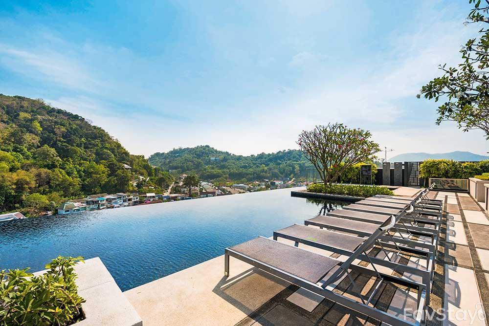 Peaceful Sky Pool Rooftop 1BR Phuket City