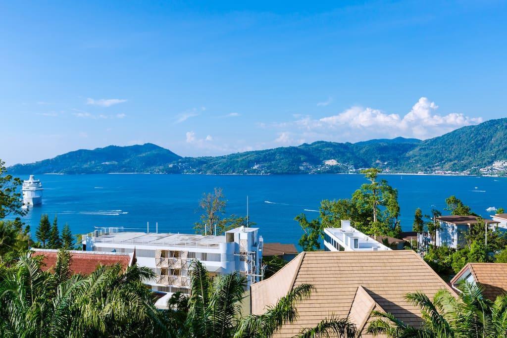 Patong Indigo cozy villa super sea view 5 rooms วิลลา 5 ห้องนอน 4 ห้องน้ำส่วนตัว ขนาด 1000 ตร.ม. – ป่าตอง