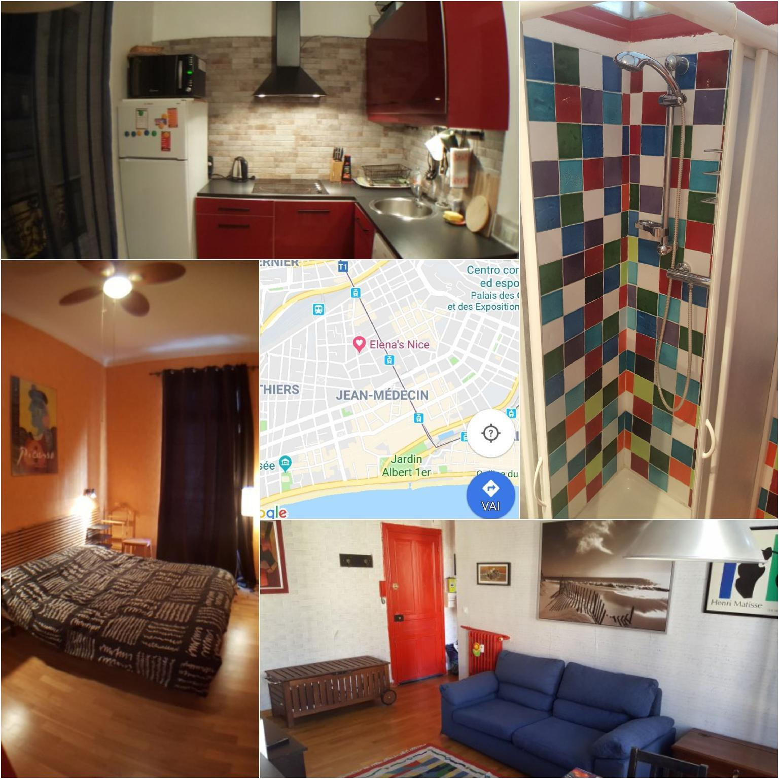 Lovely and colourful apartment right in the center