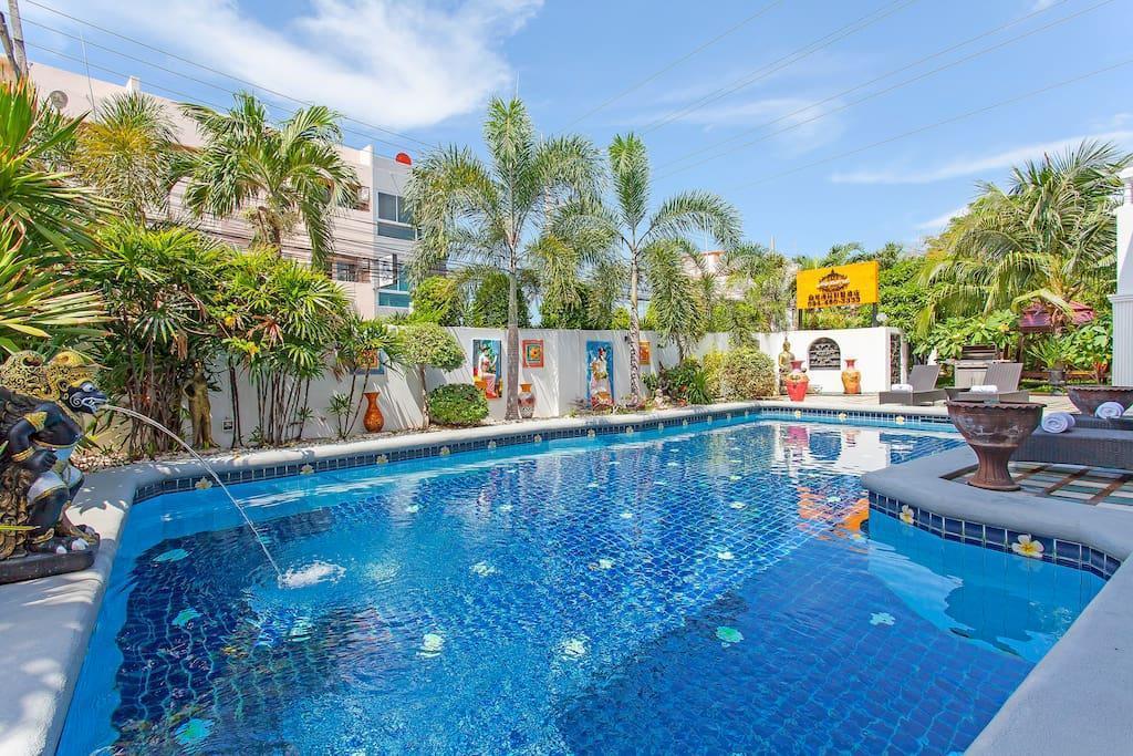 Harmony 8 bedroom pool villa วิลลา 8 ห้องนอน 8 ห้องน้ำส่วนตัว ขนาด 1000 ตร.ม. – พัทยากลาง
