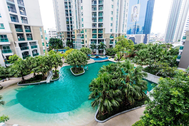 Besty Resort-like Condo in Central Bangkok中文服务 อพาร์ตเมนต์ 2 ห้องนอน 1 ห้องน้ำส่วนตัว ขนาด 77 ตร.ม. – รัชดาภิเษก