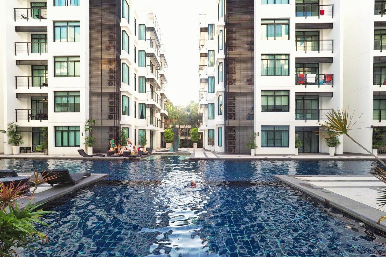 Kamala Regent C202 -  pool and gym, walk to beach อพาร์ตเมนต์ 3 ห้องนอน 2 ห้องน้ำส่วนตัว ขนาด 120 ตร.ม. – กมลา
