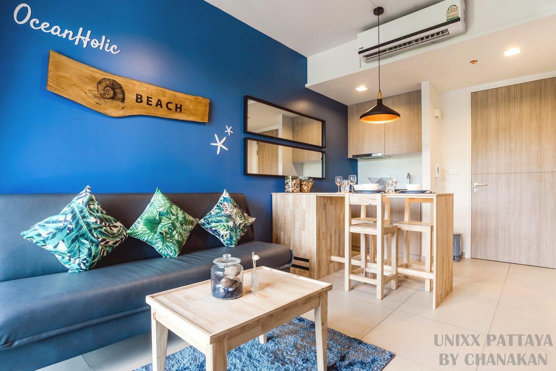 Luxury Condo South Pattaya 10 min Bali Hai Pier อพาร์ตเมนต์ 1 ห้องนอน 1 ห้องน้ำส่วนตัว ขนาด 35 ตร.ม. – พัทยาใต้