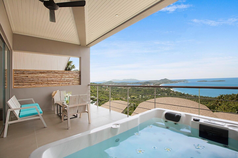 Poda @ Comoon Penthouse with stunning sea views วิลลา 2 ห้องนอน 2 ห้องน้ำส่วนตัว ขนาด 100 ตร.ม. – เฉวงน้อย