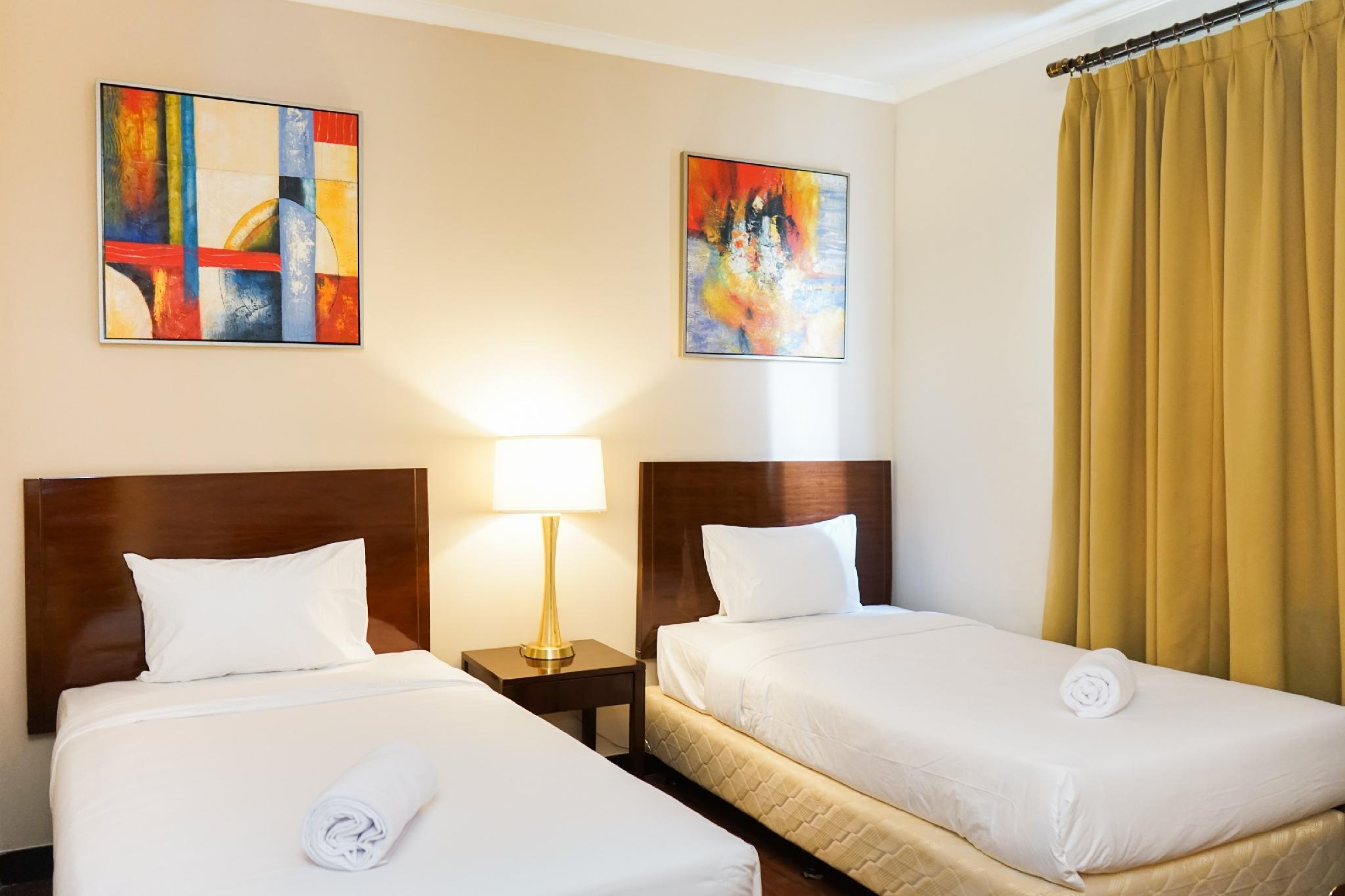 Elegant Ancol Marina 1BR Twin Bed By Travelio