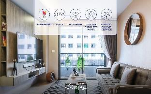 [スクンビット]アパートメント(40m2)| 1ベッドルーム/1バスルーム HappyZleepy S7 28 2mins to Nana BTS/30Mb Wifi/4pax