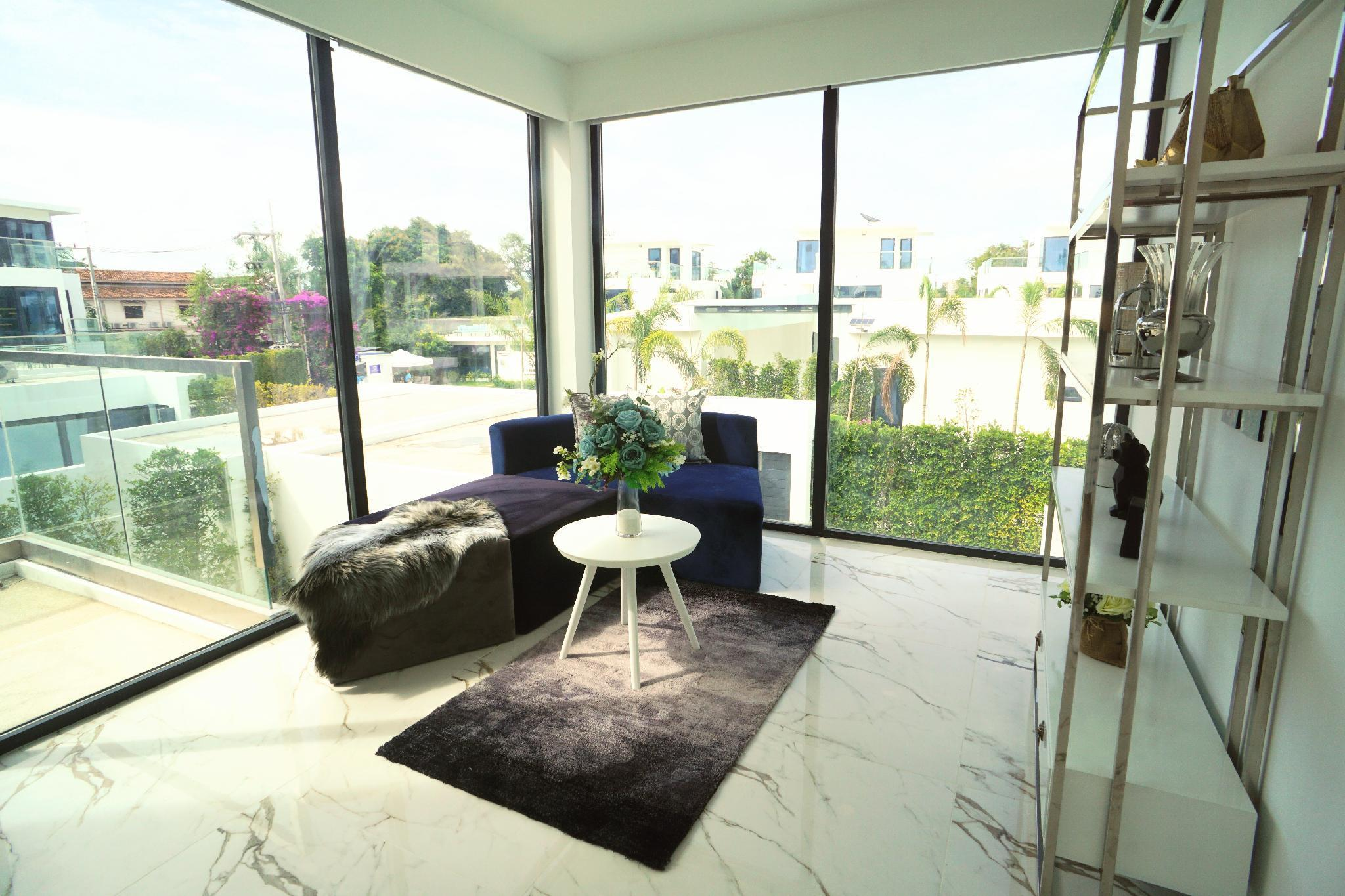 Palm spring villa 14 bedroom luxury pool villa วิลลา 14 ห้องนอน 14 ห้องน้ำส่วนตัว ขนาด 1400 ตร.ม. – เขาพระตำหนัก