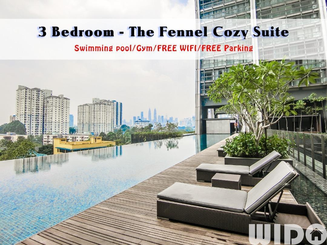 FENNEL 3 Bedroom Suite @ KL  FREE PARKING WIFI