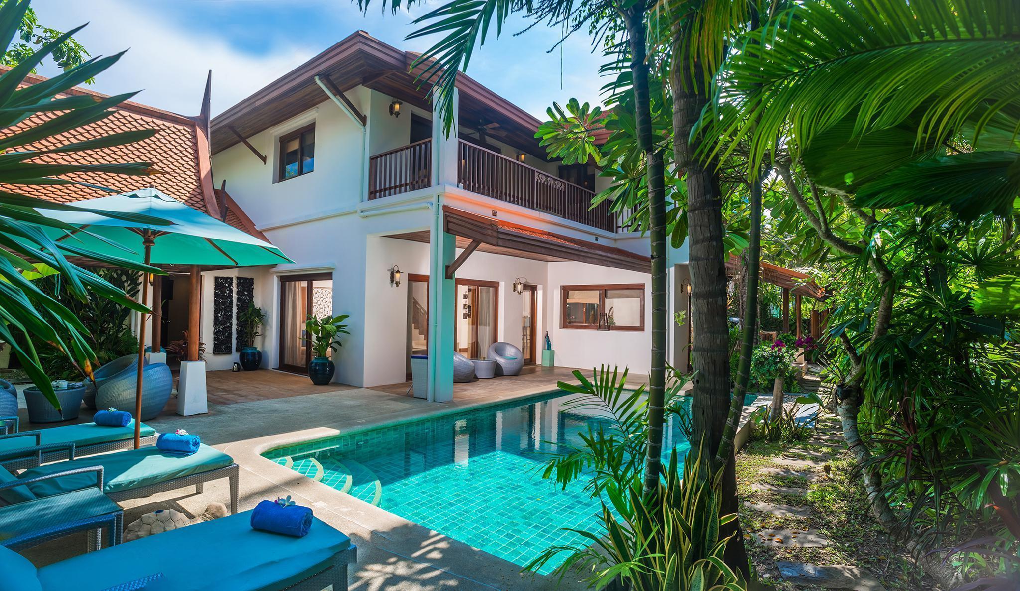 Beachfront Resort Villa Baan Tawan 3BR 3 ห้องนอน 3 ห้องน้ำส่วนตัว ขนาด 266 ตร.ม. – หัวถนน