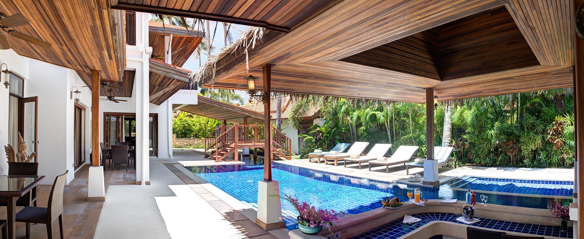 Beachfront Resort Villa Baan Oasis 3BR 3 ห้องนอน 3 ห้องน้ำส่วนตัว ขนาด 371 ตร.ม. – หัวถนน