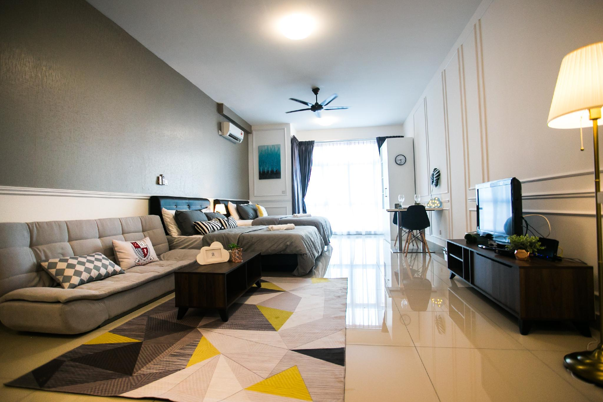 White Minimalist At Twin Galaxy Residences JB