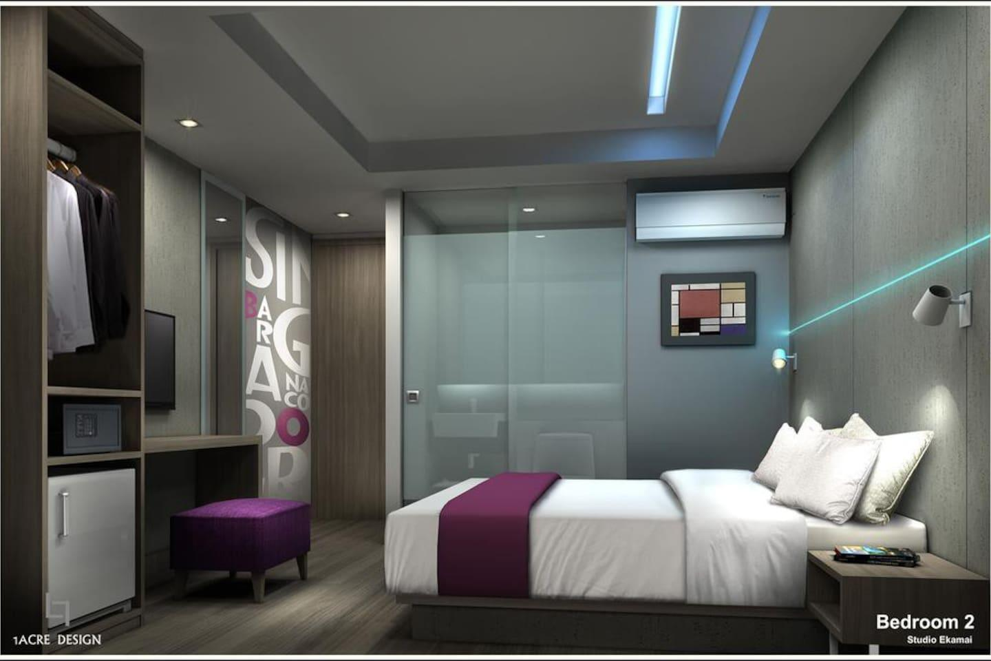 Studio 3 Km. From BTS And Emporium Shopping Mall