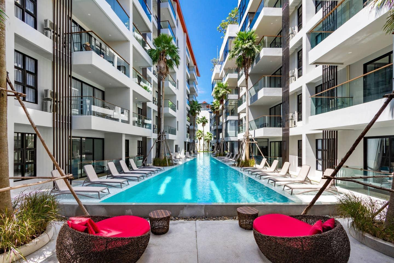 MODERN 1BR with Terrace, 300 meters to Surin Beach อพาร์ตเมนต์ 1 ห้องนอน 1 ห้องน้ำส่วนตัว ขนาด 40 ตร.ม. – สุรินทร์