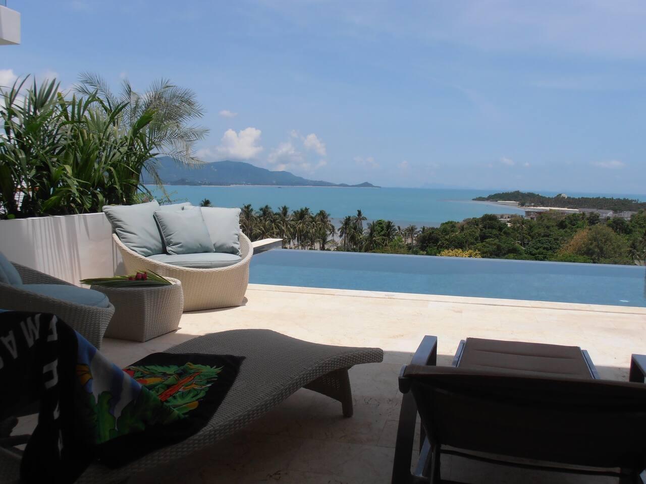 Samui Sunset Deluxe Villa with Beach Access วิลลา 3 ห้องนอน 3 ห้องน้ำส่วนตัว ขนาด 220 ตร.ม. – เชิงมน