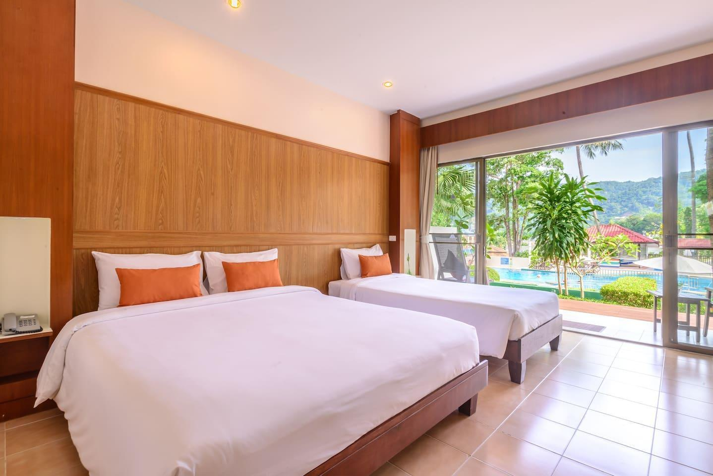 Terrace Triple Pool-View @ Patong Lodge Hotel 1 ห้องนอน 1 ห้องน้ำส่วนตัว ขนาด 40 ตร.ม. – ป่าตอง