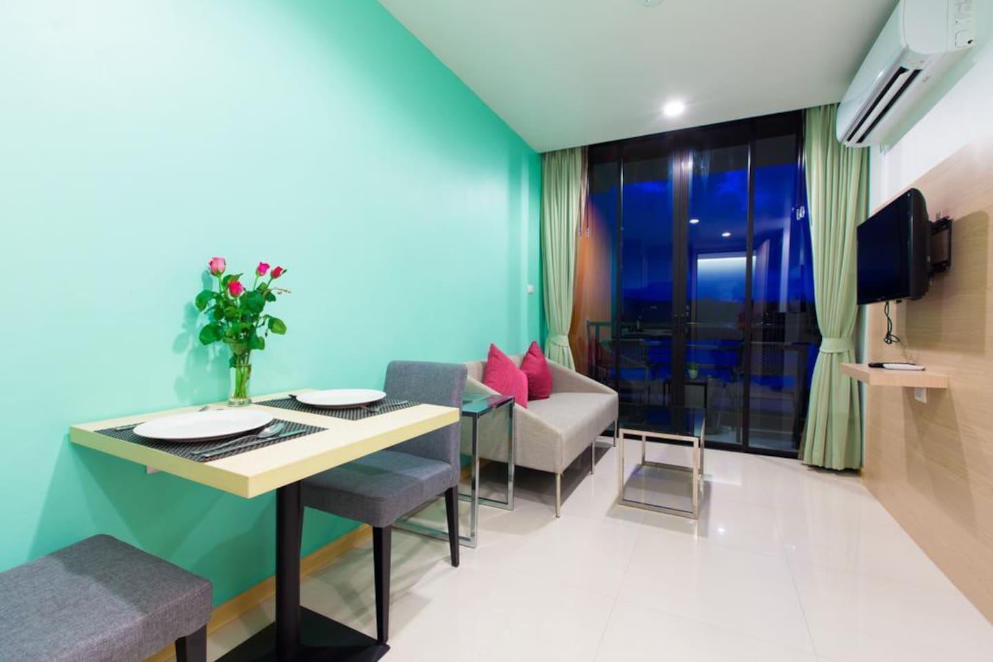 Executive Suite 1 Bedroom, Ko Samui near Airport อพาร์ตเมนต์ 1 ห้องนอน 1 ห้องน้ำส่วนตัว ขนาด 60 ตร.ม. – หาดบ่อผุด