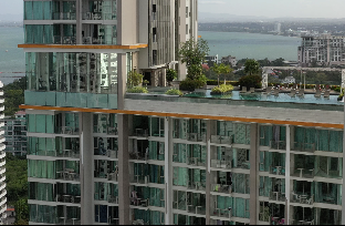 Pattaya Beachfront Luxury Apartment อพาร์ตเมนต์ 2 ห้องนอน 2 ห้องน้ำส่วนตัว ขนาด 86 ตร.ม. – หาดวงอมาตย์