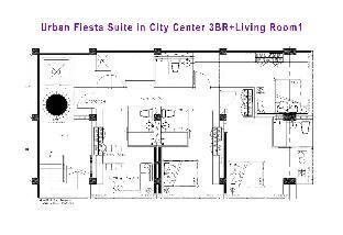 [スクンビット]アパートメント(250m2)| 3ベッドルーム/4バスルーム Ekamai+3Bed+4Bath+Living Room+Free Airport Pick Up