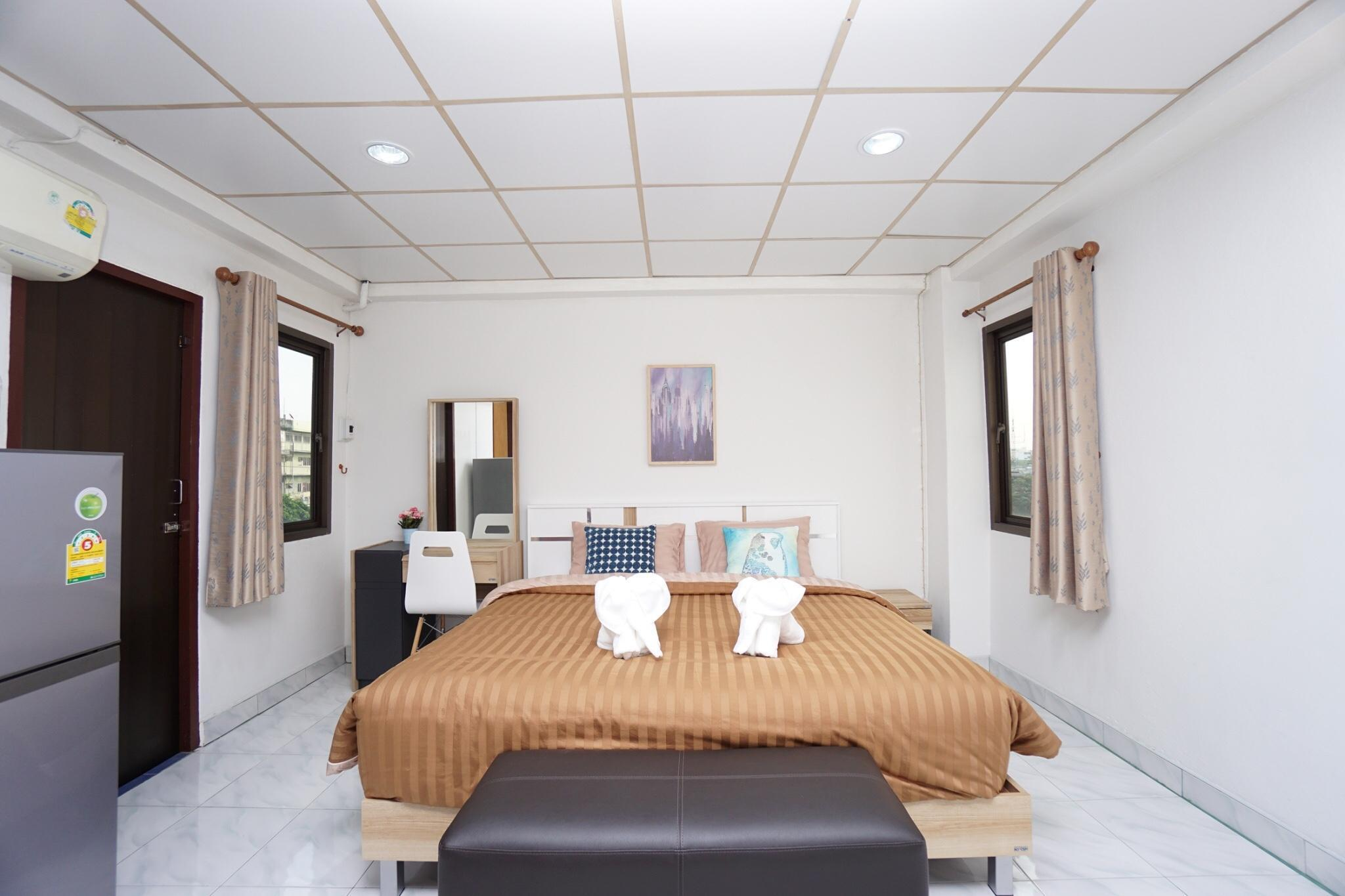 Best and cheap private room near Khaosan! 506 สตูดิโอ อพาร์ตเมนต์ 1 ห้องน้ำส่วนตัว ขนาด 15 ตร.ม. – เยาวราช