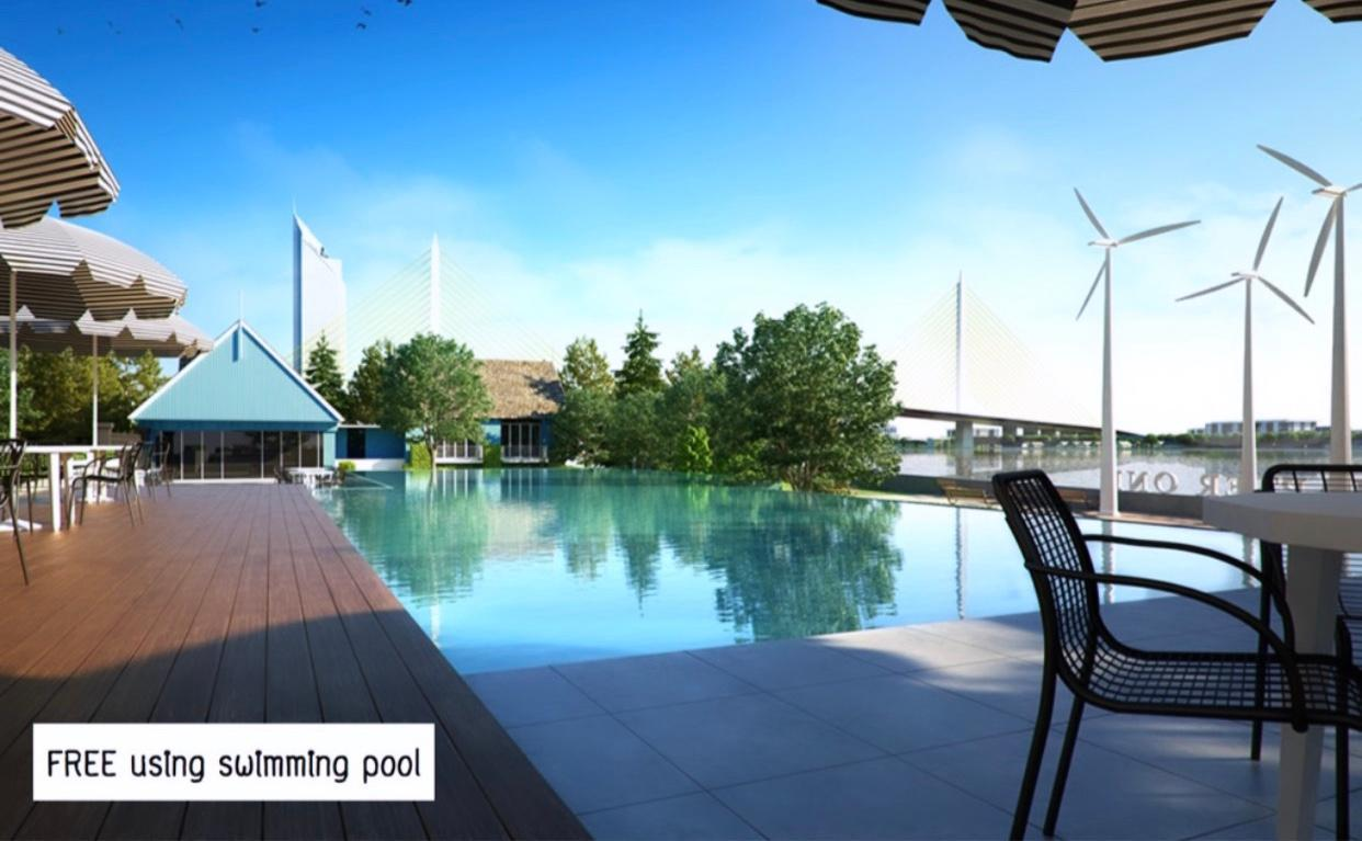 Cozy River view Pool+Gym+Hi speeds WIFI+BTS