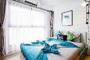 [Ratchada]アパートメント(30m2)| 1ベッドルーム/1バスルーム [hiii]MoonlightOnBeach|InfinityPool|Rama9-BKK236