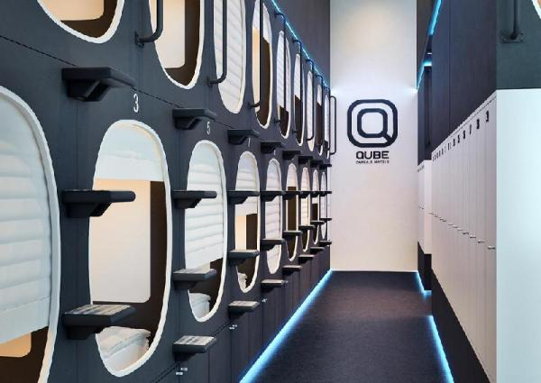 Qube capsule hotels Moscow